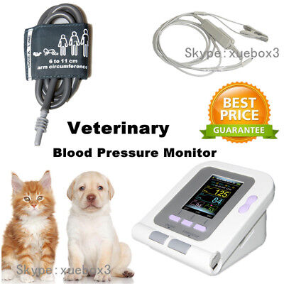 08A-VET Digital Blood Pressure Monitor,Veterinary/Animal NIBP+SPO2 Probe