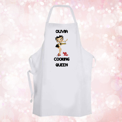 Personalised Betty Boop Fun Baking Cooking Apron Birthday Party Gift DE1