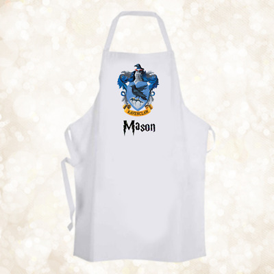 Personalised Hogwarts Ravenclaw House Chef Baking Cooking Apron Unique Gift