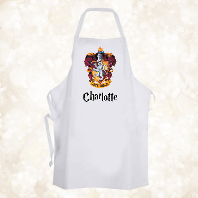 Personalised Hogwarts Gryffindor House Chef Baking Cooking Apron Unique Gift