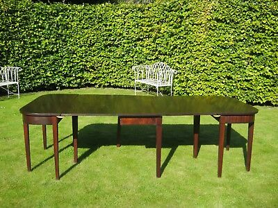 Large George Iii  Mahogany Dining Table To Seat 8/10