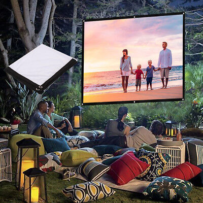 Projection Curtain Movie Screen Soft Portable Polyester 16:9 Accessories Cinema