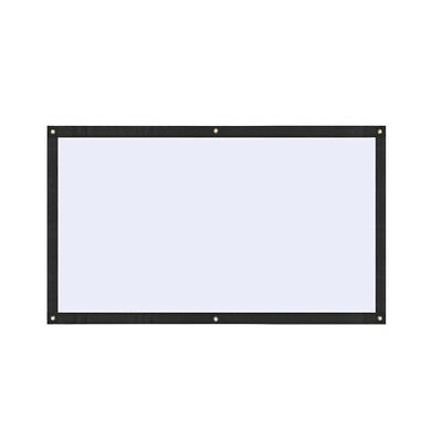 Projector Screen Projection Curtain Soft Portable 70 Inch Polyester Video