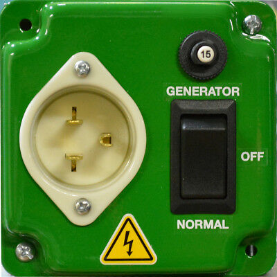 EZ GENERATOR SWITCH - Works with ALL Generators - UL/CSA  APPROVED