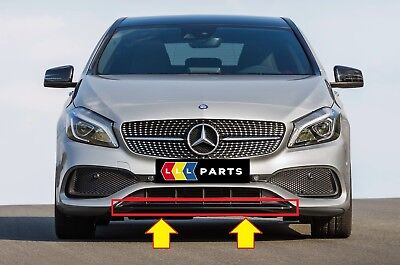 New Genuine Mercedes Benz Mb A Class W176 Amg Front Bumper Lower Spoiler Trim