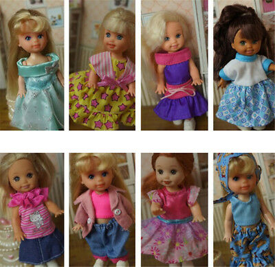 5set Cute Handmade Clothes Dress For Mini Kelly Mini Chelsea Doll Outfit NTPD