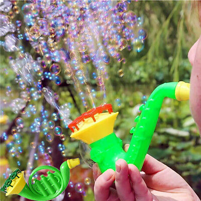 Water Blowing Toys Bubble Gun Soap Bubble Blower Outdoor Kids Child Toys