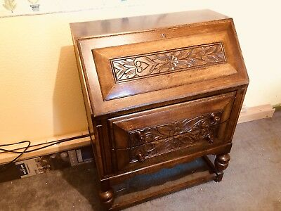 wooden writing bureau