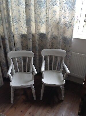 Antique Pair Of Child's Country Chairs