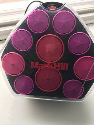 'mark Hill' Set Of Electric Large 10 Heated Rollers & Clips In Vgc.