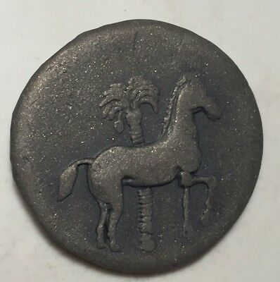 Ancient Sicily Italy Coin Syracuse Fish Siculo Punic Horse PalmTree Tetradrachm