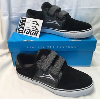 Genuine Emerica Mob Youth Kids Black Suede Childrens Skate Shoes UK Size 1 BNIB