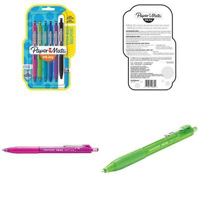 Paper Mate Inkjoy 300Rt Retractable Ballpoint Pens Medium Point Assorted 6 Pack