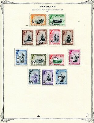 SWAZILAND 1961 Set complete MLH on page.