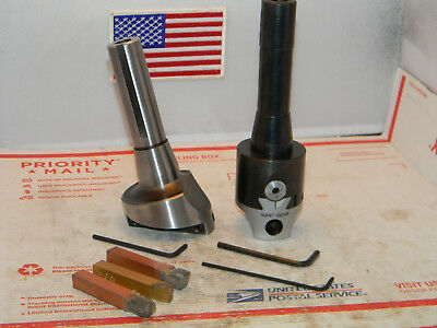 """2"""" Boring Head with R-8 mounting shank for 1/2 boring bars, Fly Cutter,Machinist"""