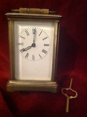 French Brass Carriage Clock Early 20 Th C.