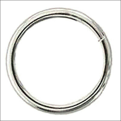 """1-1/2"""" x 6MM HILASON STAINLESS STEEL WIRE RING WESTERN TACK HORSE SADDLE REPAIR"""