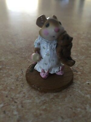Wee Forest Folk M-218 Mousey's Bunny Slippers Mint Condition