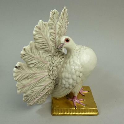 Fine Nymphenburg Porcelain Fantail Dove Figure #962 C.1880