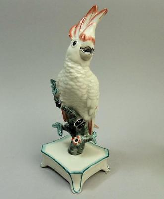 Fine Nymphenburg Porcelain Cockatoo Figure C.1880