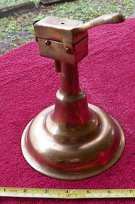 Rare Vintage 8in Tall  6in Base Bronze Table Cigar Lighter unsigned 1900s