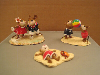 Wee Forest Folk Lot of (3) - Strolling Summer, Having a Ball, Alone at Last Spec