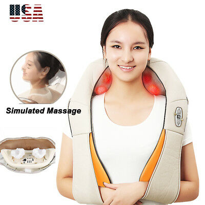 New 2018 Back and Shoulder Shiatsu Massager Electric Neck Massage with Heating