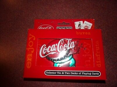 coca cola playing cards new in box, bicycle brand - rare