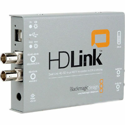 Blackmagic HDLink Dual Link HD-SDI to DVI-D Converter with power supply