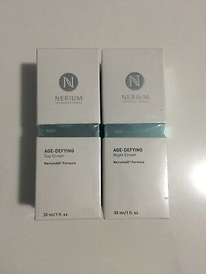 Nerium AD Age Defying DAY and NIGHT Cream Combo Complete Kit 1 oz NEW SEALED BOX