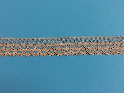Antique French Edging Lace Ecru 30 mm wide Pure Cotton 1930 - 50s -   4 metres