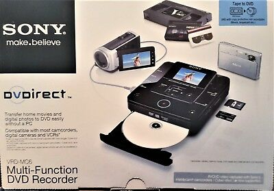 SONY MULTI-FUNCTION DVD RECORDER VRD-MC6, Convert old movies and photos to DVD
