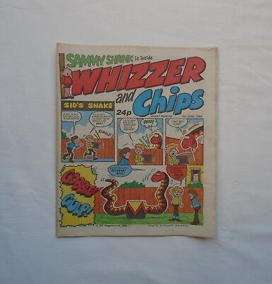 Whizzer and Chips Comic 7th June 1986 - Sammy Shrink/ Sweeny Toddler/Sid's Snake