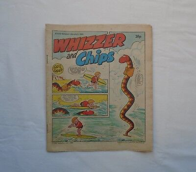 Whizzer and Chips Comic 28th July 1984 - Sid's Snake/ Joker /Lazy Bones/Odd Ball
