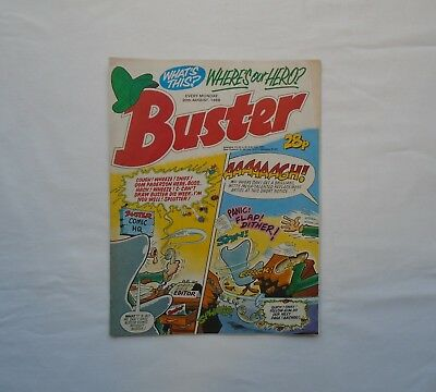 Buster Comic 20th August 1988 - Prambo / School Belle /  Ivor & Tony / Chalky /