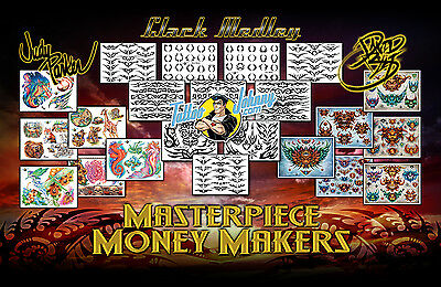 (Laminated) Tattoo Johnny Masterpiece Money Makers Flash Collection