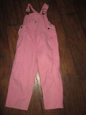 Carhartt size 4T girls pink overalls EXCELLENT CONDITION