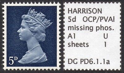 GB SPECIALISED PRE-DECIMAL 5d MISSING PHOSPHOR ERROR, MNH