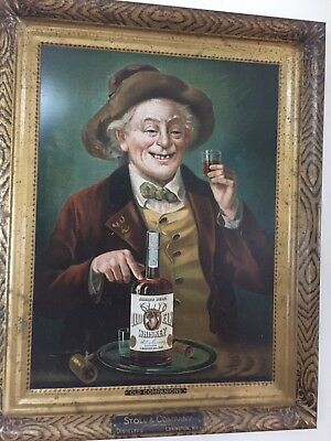 Extremely Rare Self Framed Stoll & Company Whiskey Advertising Sign Lexington Ky