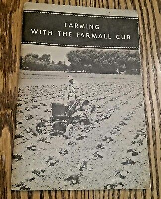 Farming With The Farmall Cub Farm Tractor Sales Brochure Vintage