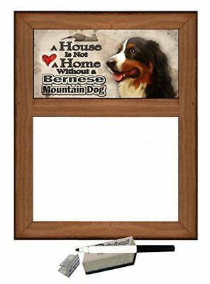 Bernese Mountain Dog (v2) - Dog Themed Dry Erase Marker Board - A House is Not a