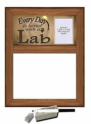 """Yellow Lab - Dry Erase Marker Board """"Every Day is Better with a Lab"""" featuring C"""