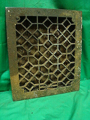 Antique Cast Iron Heating Grate Register Vent Floor Wall Unique Design 14 X 12 A