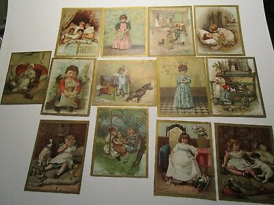 McLaughlin Coffee Victorian Trade Cards Lot of 13 Measures 5 x 7