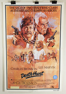 L002376 Death Hunt / 1981 / Movie Poster Restoration Project / 41 x 27 / Bronson