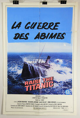 L002381 Raise The Titanic / 1980 / Movie Poster Restoration Project / 41 x 27