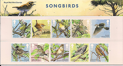 2017 Gb Qeii Royal Mail Commemorative Stamp Presentation Pack No 540 Songbirds