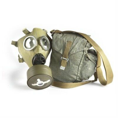 Real Military Full Gas Mask With NATO Filter & Bag - Chemical Nuclear Biological