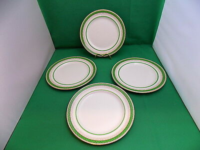 Losol Ware Green / Gold Salad / Breakfast Plates x 4
