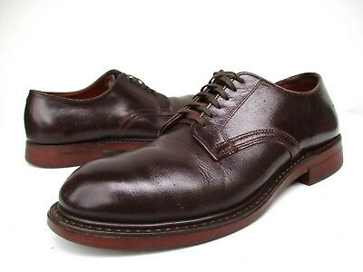 Vintage 1930s 1940s USA WWII Leather Steel Toe Oxfords Work Shoes Mens 5.5 Regal